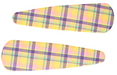Buy Fab N Funky Checks Print Snap Clips Light Yellow - 1 Pair