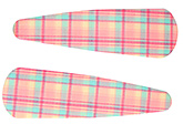 Buy Fab N Funky Checks Print Snap Clips Light Green And Pink - 1 Pair