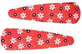 Buy Fab N Funky Hair Clips Floral Print Pack of 2 - Red