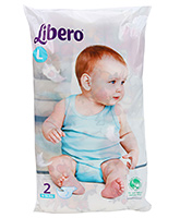 Buy Libero Baby Open Diaper Large - 2 Pieces