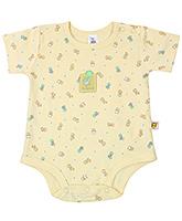 Buy ToffyHouse Half Sleeves Duck Printed Onesies - Light Yellow