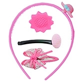 Angel Glitter Hair Accessories Combo of 4 -  Pink Pretty