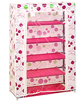 Fab N Funky Baby Multi Purpose Storage Rack Circle Print - 5 Shelves