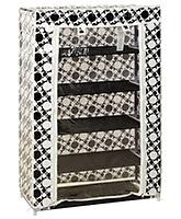 Fab N Funky Baby Multi Purpose Storage Rack Circle Print - 5 Shelves