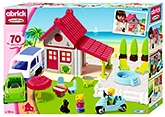 Ecoiffier Abrick Holiday House - 70 Pieces