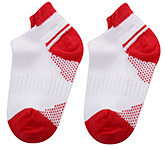 Buy Cute Walk Ankle Length Socks Dual Color Design - Red And White