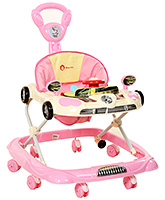 Fab N Funky Musical Baby Walker With Push Handle - Pink
