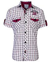 Babyhug Half Sleeves Check Printed Shirt - Maroon