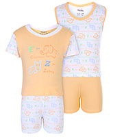 Babyhug 4 Piece Set - Peach And White