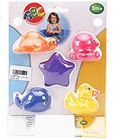 ABC Vinyl Bathing Animal Set  - 5 Toys