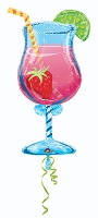 Wanna Party Balloon Tropical Cooler Shaped - Blue And pink