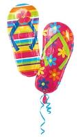 Wanna Party Balloon Flip Flop Shape - Multi Color