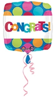 Wanna Party Congrats Balloon Square Shape - Multi Color