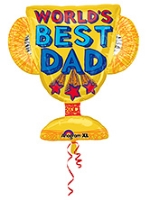 Wanna Party Trophy Shape Balloon - Multi Color