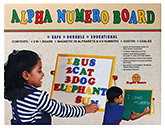 Zephyr - Alpha Numero Board 3 Years+, Safe and durable educational board