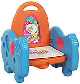 Fab N Funky Musical Potty Training Seat With Goat Design - Blue and Orange
