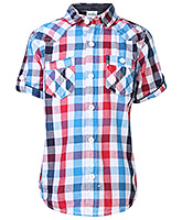 Babyhug Half Sleeves Shirt - Checks Print
