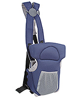 Fab N Funky 2 Way Baby Carriers Kangaroo Style With Front Pouch - Navy Blue