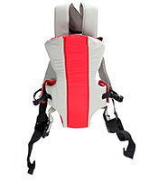 Fab N Funky 2 Way Baby Carrier Kangaroo Style - Red and Grey