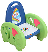 Fab N Funky Musical Potty Training Seat With Elephant Design - Blue and Green
