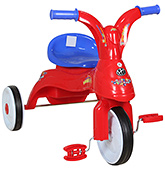 Fab N Funky Baby Tricycle With Wide Wheels - Red and Blue