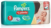 Pampers Pant Diapers Light And Dry Small - 46 Pieces