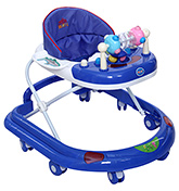 Fab N Funky Musical Baby Walker With Adjustable Height - Blue