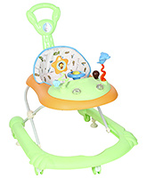 Fab N Funky Musical Walker With Push Handle - Light  Green