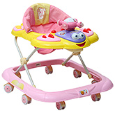Fab N Funky Musical Baby Walker With Cushioned Seat - Pink
