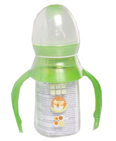 Feeding Bottle Small with Handle Feeding Bottle with pure silicone teats, Small 120 m...