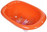 Fab N Funky Bath Tub Rabbit And Bear Print - Orange