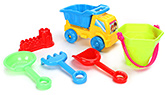 Fab N Funky Beach Toy Set Yellow And Blue - Set of 6