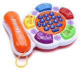 Fab N Funky Musical Mobile Phone - White And Orange