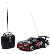 Fab N Funky Remote Controlled Car Sowar Print - Black And Red
