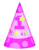 Wanna Party Hats Hugs & Stitches Birthday Cone Hat - Pink