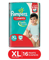 Pampers Pant Diapers Light And Dry Extra Large - 16 Pieces