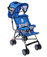 Fab N Funky Baby Stroller With Owl Print - Blue