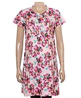 Uzazi Maternity Long Tunic Top Pink - Floral Print