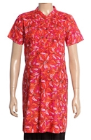 Uzazi Maternity Long Tunic Top With Half Sleeves Red - Floral Print