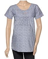 Uzazi Maternity Top Half Sleeves - Abstract Print
