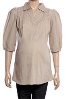 Uzazi Maternity Tunic Top - Quarter Sleeves