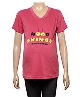 Uzazi Top Half Sleeves With Mood Swing Print - Pink