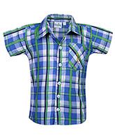 Babyhug Shirt Half Sleeves - Checks
