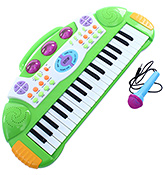 Fab N Funky Baby Electronic Keyboard Piano With Microphone - Green