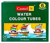 Camel - Water Colour Tubes 6 assorted tube colours of 5 ml each