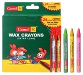 Camel - Wax Crayons 24  Shades Of Assorted Extra Long Crayons And 2 Glit...