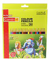 Camlin - King Colour Pencils 24 Shades Of Assorted Colour Pencils