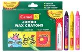 Camel - Jumbo Wax Crayons 12 Shades Of Assorted Crayons And 1 Glitter Crayon F...