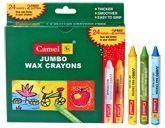 Camel - Jumbo Wax Crayons 24  shades of assorted crayons and 2 glitter crayons...