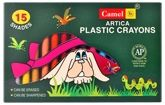 Camel - Artica Plastic Crayons - 15 Shades Of Assorted Crayons